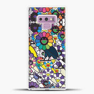 Takashi Murakami X Ovo Samsung Galaxy Note 9 Case, White Rubber Case | JoeYellow.com