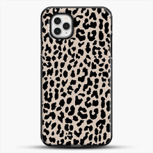 Load image into Gallery viewer, Tan Leopard iPhone 11 Pro Case, Black Plastic Case | JoeYellow.com
