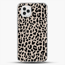 Load image into Gallery viewer, Tan Leopard iPhone 11 Pro Case, White Plastic Case | JoeYellow.com