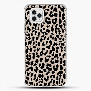 Tan Leopard iPhone 11 Pro Case, White Plastic Case | JoeYellow.com