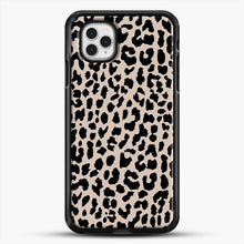 Load image into Gallery viewer, Tan Leopard iPhone 11 Pro Case, Black Rubber Case | JoeYellow.com