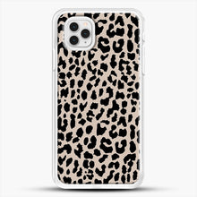 Load image into Gallery viewer, Tan Leopard iPhone 11 Pro Case, White Rubber Case | JoeYellow.com