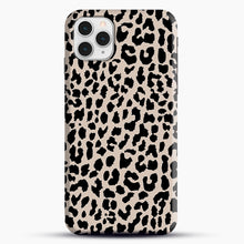 Load image into Gallery viewer, Tan Leopard iPhone 11 Pro Case, Black Snap 3D Case | JoeYellow.com