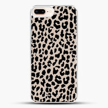 Load image into Gallery viewer, Tan Leopard iPhone 8 Plus Case, White Plastic Case | JoeYellow.com