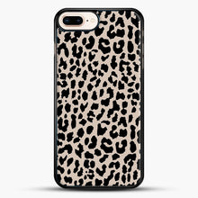 Load image into Gallery viewer, Tan Leopard iPhone 8 Plus Case, Black Rubber Case | JoeYellow.com