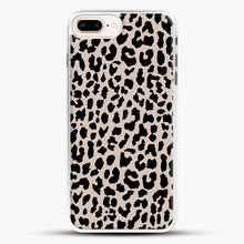 Load image into Gallery viewer, Tan Leopard iPhone 8 Plus Case, White Rubber Case | JoeYellow.com
