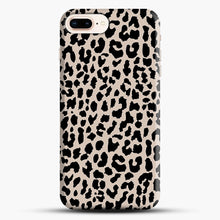 Load image into Gallery viewer, Tan Leopard iPhone 8 Plus Case, Black Snap 3D Case | JoeYellow.com