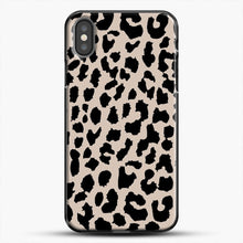 Load image into Gallery viewer, Tan Leopard iPhone Case, Black Plastic Case | JoeYellow.com