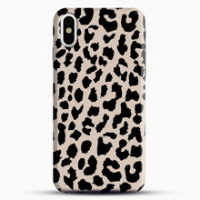 Load image into Gallery viewer, Tan Leopard iPhone Case, Black Snap 3D Case | JoeYellow.com