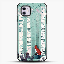 Load image into Gallery viewer, The Birches iPhone 11 Case, Black Plastic Case | JoeYellow.com