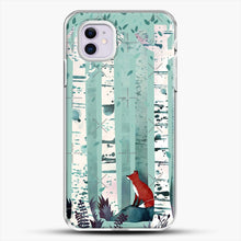 Load image into Gallery viewer, The Birches iPhone 11 Case, White Plastic Case | JoeYellow.com