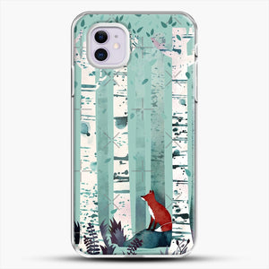 The Birches iPhone 11 Case, White Plastic Case | JoeYellow.com