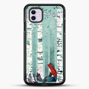 The Birches iPhone 11 Case, Black Rubber Case | JoeYellow.com