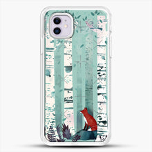 Load image into Gallery viewer, The Birches iPhone 11 Case, White Rubber Case | JoeYellow.com