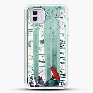 The Birches iPhone 11 Case, White Rubber Case | JoeYellow.com