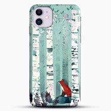 Load image into Gallery viewer, The Birches iPhone 11 Case, Black Snap 3D Case | JoeYellow.com