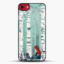 Load image into Gallery viewer, The Birches iPhone 8 Case, Black Plastic Case | JoeYellow.com