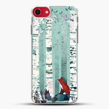 Load image into Gallery viewer, The Birches iPhone 8 Case, White Plastic Case | JoeYellow.com