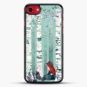 The Birches iPhone 8 Case, Black Rubber Case | JoeYellow.com