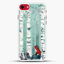 Load image into Gallery viewer, The Birches iPhone 8 Case, White Rubber Case | JoeYellow.com