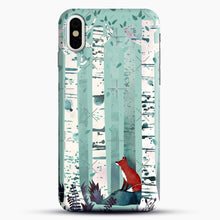 Load image into Gallery viewer, The Birches iPhone X Case, Black Snap 3D Case | JoeYellow.com