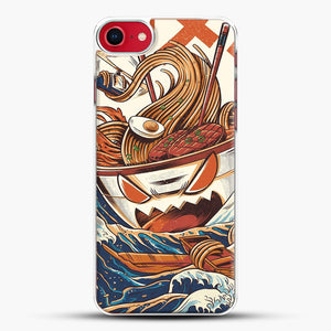 The Great Ramen Off Kanagawa iPhone 7 Case, White Plastic Case | JoeYellow.com