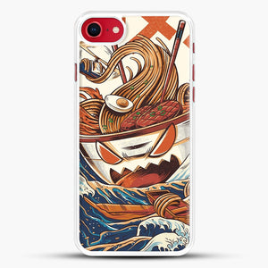 The Great Ramen Off Kanagawa iPhone 7 Case, White Rubber Case | JoeYellow.com