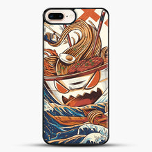 Load image into Gallery viewer, The Great Ramen Off Kanagawa iPhone 7 Plus Case, Black Plastic Case | JoeYellow.com