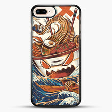 Load image into Gallery viewer, The Great Ramen Off Kanagawa iPhone 7 Plus Case, Black Rubber Case | JoeYellow.com