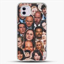 Load image into Gallery viewer, The Office Collage iPhone 11 Case, White Plastic Case | JoeYellow.com