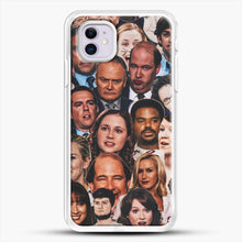 Load image into Gallery viewer, The Office Collage iPhone 11 Case, White Rubber Case | JoeYellow.com
