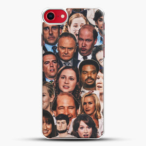 The Office Collage iPhone 8 Case, White Plastic Case | JoeYellow.com
