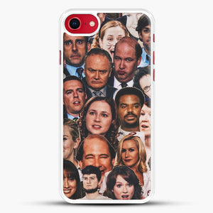 The Office Collage iPhone 8 Case, White Rubber Case | JoeYellow.com