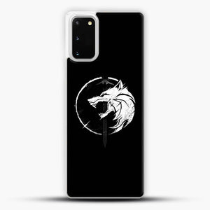 The Witcher Symbol From Netflix Series White Wolf Samsung Galaxy S20 Case, White Plastic Case | JoeYellow.com