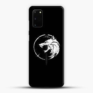 The Witcher Symbol From Netflix Series White Wolf Samsung Galaxy S20 Case, Snap 3D Case | JoeYellow.com