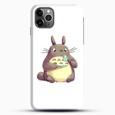 Totoro Drinking iPhone 11 Pro Max Case, Black Snap 3D Case | JoeYellow.com