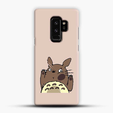 Totoro Pink Background Samsung Galaxy S9 Plus Case, Black Snap 3D Case | JoeYellow.com