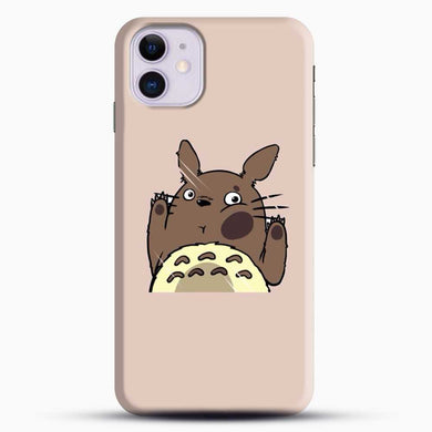 Totoro Pink Background iPhone 11 Case, Black Snap 3D Case | JoeYellow.com