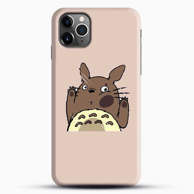 Totoro Pink Background iPhone 11 Pro Max Case, Black Snap 3D Case | JoeYellow.com