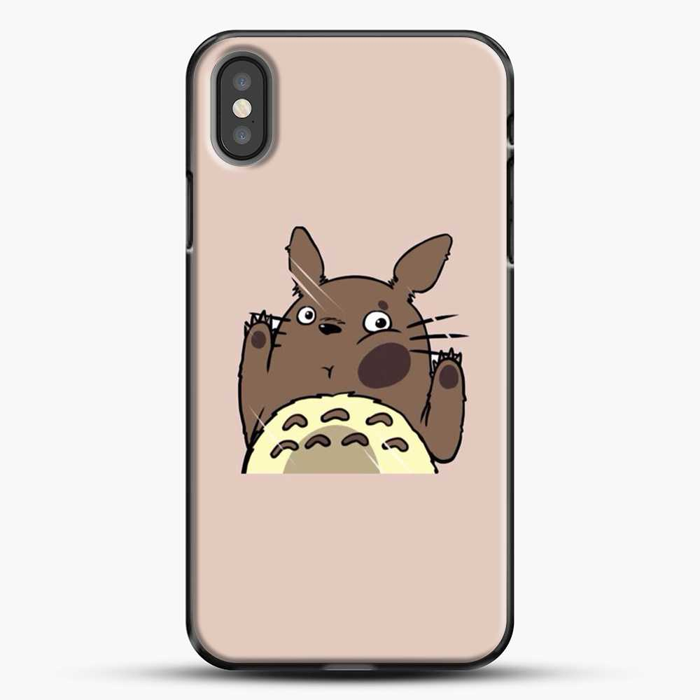 Totoro Pink Background iPhone X Case, Black Plastic Case | JoeYellow.com
