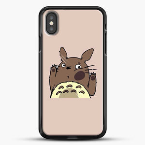 Totoro Pink Background iPhone X Case, Black Rubber Case | JoeYellow.com