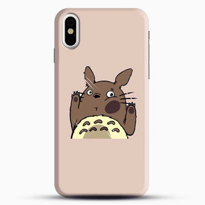 Totoro Pink Background iPhone X Case, Black Snap 3D Case | JoeYellow.com