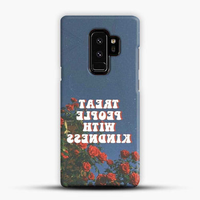 Treat People With Kindness Red Rose Samsung Galaxy S9 Plus Case, Black Snap 3D Case | JoeYellow.com