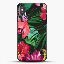 Load image into Gallery viewer, Tropical Flower iPhone Case, Black Plastic Case | JoeYellow.com