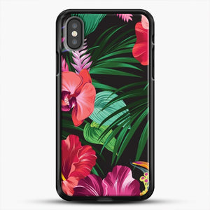Tropical Flower iPhone Case, Black Rubber Case | JoeYellow.com