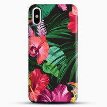 Load image into Gallery viewer, Tropical Flower iPhone Case, Black Snap 3D Case | JoeYellow.com