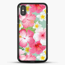 Load image into Gallery viewer, Tropical Hibiscus And Plumeria Flowers iPhone Case