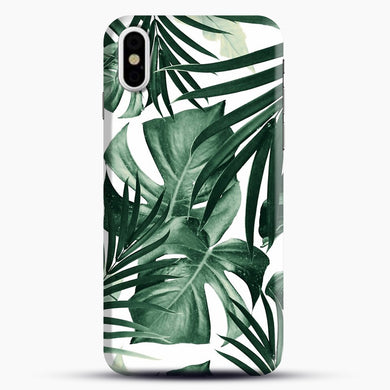 Tropical Jungle Leaves iPhone Case, Black Snap 3D Case | JoeYellow.com