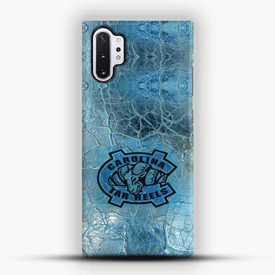 Unc Blue Texture Background Samsung Galaxy Note 10 Plus Case, Black Snap 3D Case | JoeYellow.com