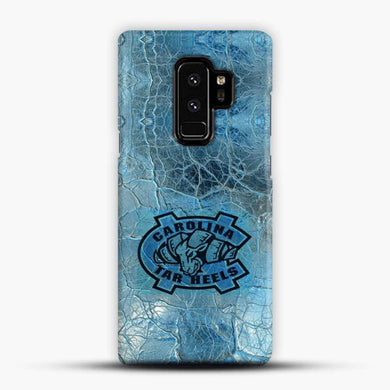 Unc Blue Texture Background Samsung Galaxy S9 Plus Case, Black Snap 3D Case | JoeYellow.com
